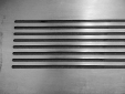 Custom milled steel grille.