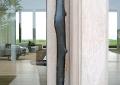 Custom bronze cast door pull.