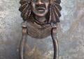 Custom cast bronze door knocker.